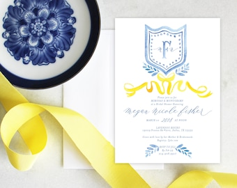 PRINTABLE Bridal Shower Invitation | French Blue