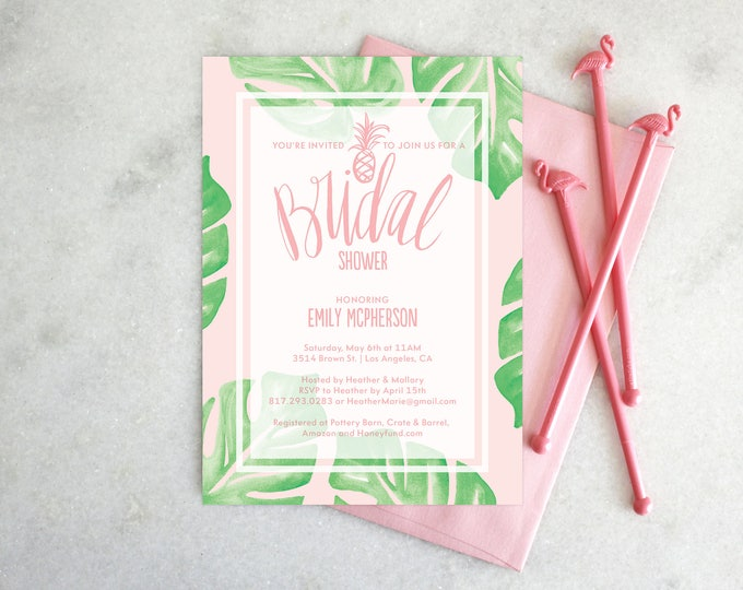 PRINTABLE Bridal Shower Invitation | Botanical Bride
