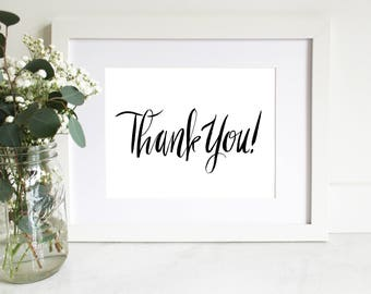 PRINTABLE Sign | Thank You