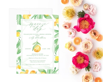PRINTABLE Bridal Shower Invitation | Squeeze The Day!
