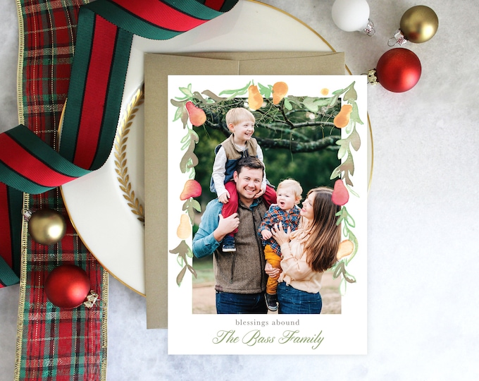 PRINTABLE Holiday Cards | Pears | Photo Cards | Blessings Abound