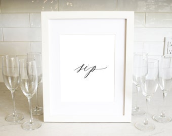 PRINTABLE Sign | Sip