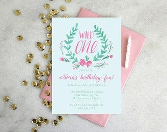 PRINTABLE Birthday Party Invitation | Wild One
