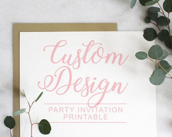Custom Designed Invitations