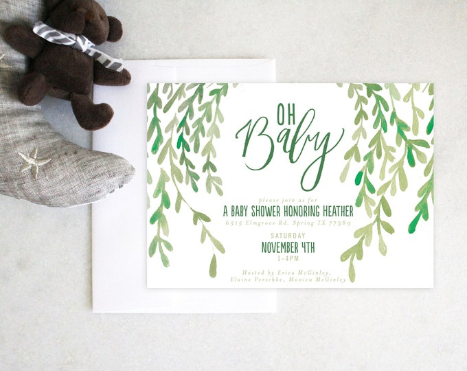PRINTABLE Baby Shower Invitation | Oh Baby