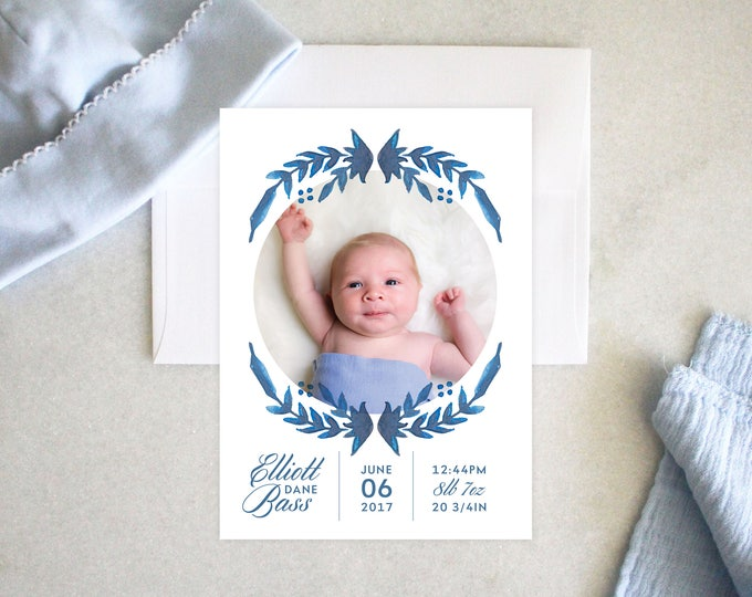 PRINTABLE Baby Announcement | Baby Blue