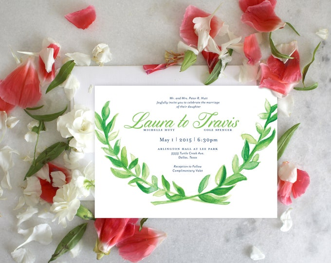 PRINTABLE Wedding Invitation Suite | Plantation Greens
