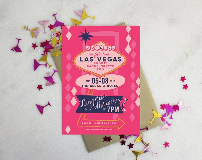 PRINTABLE Bachelorette Party Invitation | Vegas Baby