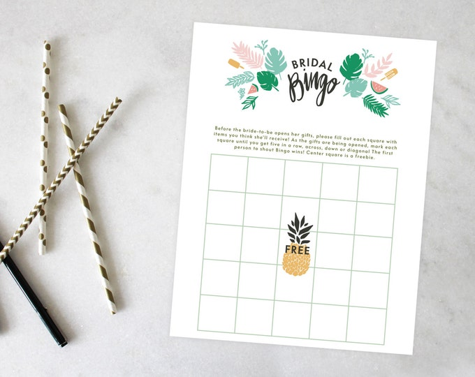 PRINTABLE Bridal Shower Games | Retro Luau