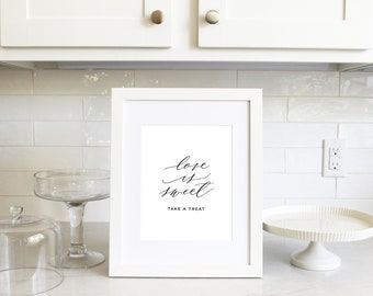 PRINTABLE Sign | Love is Sweet
