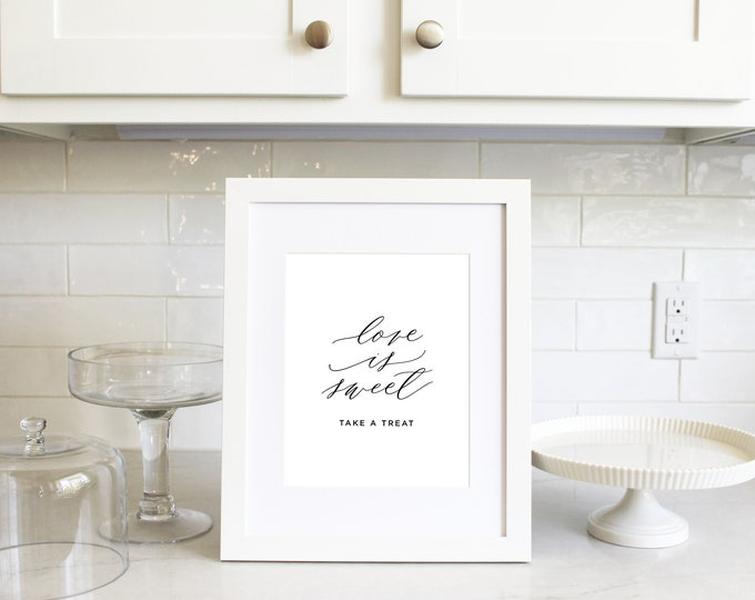 PRINTABLE Sign | Love is Sweet