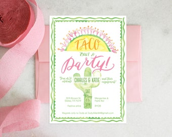 PRINTABLE Engagement Party Invitation | Taco Bout a Party