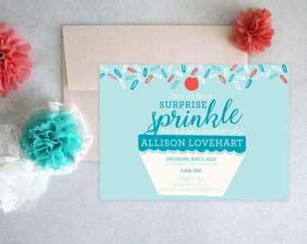 PRINTABLE Baby Shower Invitation | Surprise Sprinkle