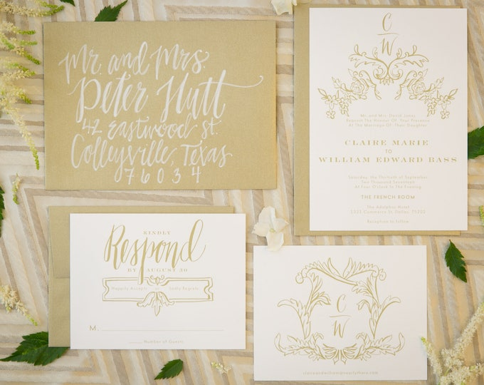 PRINTABLE Wedding Invitation Suite | Frenchie