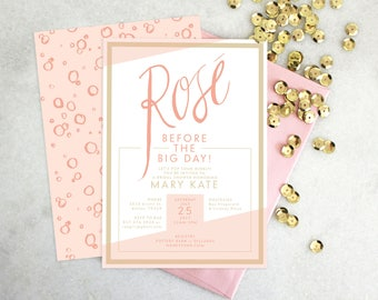 PRINTABLE Bridal Shower Invitation | Rosé