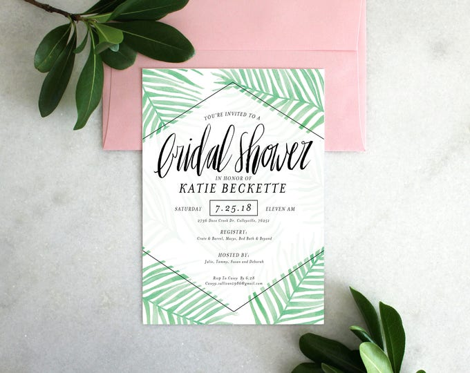 PRINTABLE Bridal Shower Invitation | Palm Springs