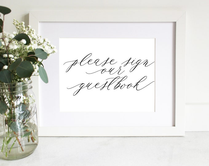PRINTABLE Sign | Guestbook