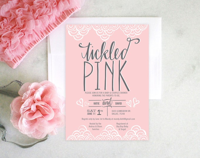 PRINTABLE Baby Shower Invitation | Tickled Pink