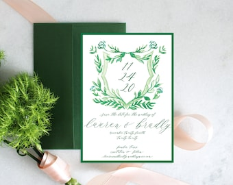 PRINTABLE Save the Date | Announcement | Barn | Crest