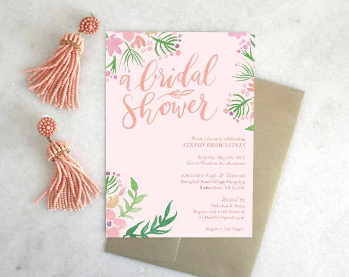 PRINTABLE Shower Invitation | Floral Days