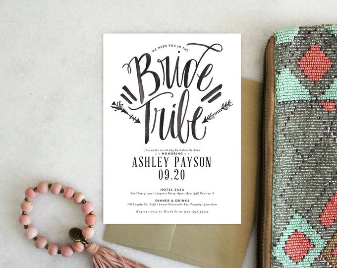 PRINTABLE Bachelorette Party Invitation | Bride Tribe