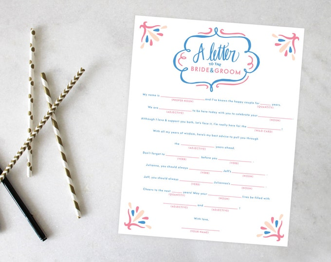 PRINTABLE Bridal Shower Games | A Bridal Shower