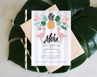 PRINTABLE Bridal Shower Invitation | Retro Luau