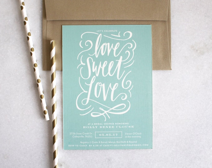 PRINTABLE Bridal Shower Invitation | Love Sweet Love