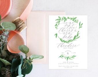PRINTABLE Sip and See Invitation | Garland