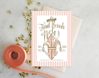 PRINTABLE Bachelorette Party Invitation | New Orleans