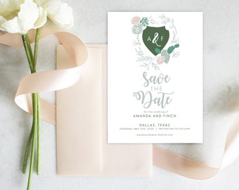 PRINTABLE Save the Date | Desert Bloom | Cactus | Announcement