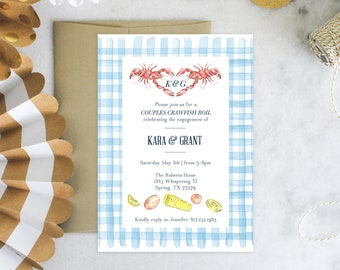 PRINTABLE Shower Invitation | Crawfish Boil | Engagement Party | Couples Shower | Sip & See | Backyard Bash