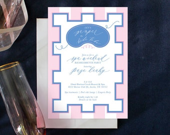 PRINTABLE Bachelorette Party Invitation | Spa Weekend | Pamper Party | Wellness Retreat