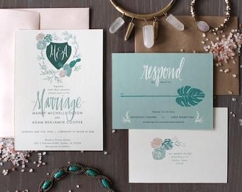 PRINTABLE Wedding Invitation Suite   Desert Bloom