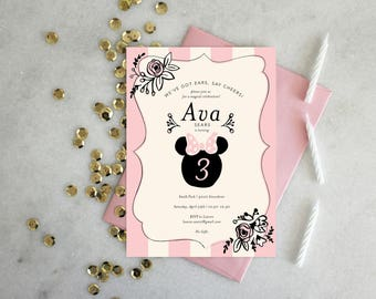 PRINTABLE Birthday Party Invitation | Minnie Mouse