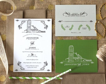 PRINTABLE Wedding Invitation Suite   Barnyard Bells