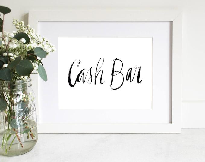 PRINTABLE Sign   Cash Bar