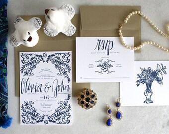 PRINTABLE Wedding Invitation Suite   Something Blue