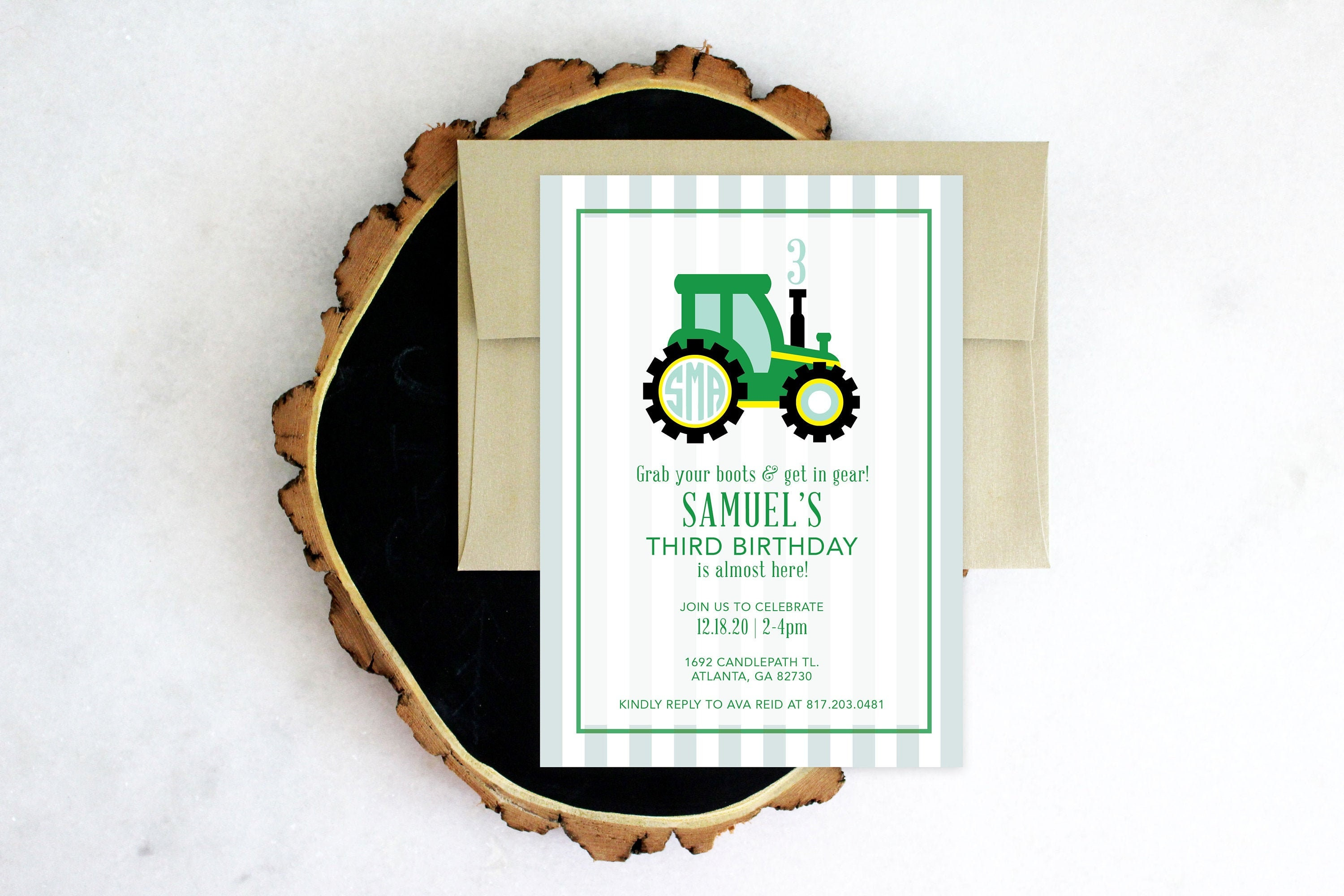 photograph regarding John Deere Printable identified as PRINTABLE Birthday Occasion Invitation Tractor Social gathering John Deere
