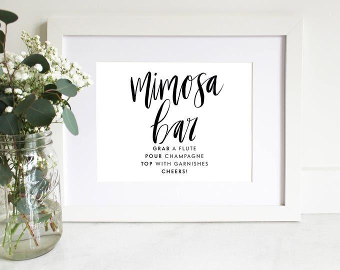 PRINTABLE Sign   Mimosa Bar