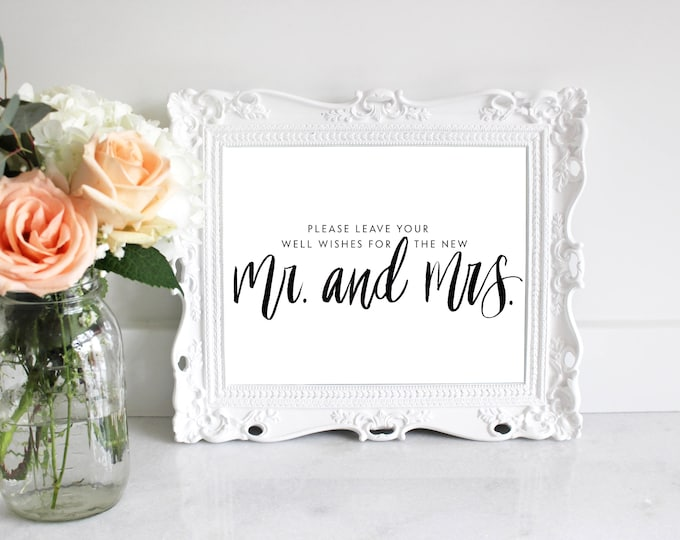 PRINTABLE Sign   Well Wishes