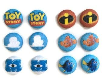 Pixar Earrings Disney Inspired Toy Story Earrings Incredibles Earrings Nemo Earrings Monsters Inc Earrings Dory Earrings