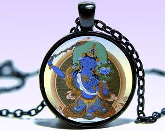 BA Manjushri Bodhisattva 3D pendant necklace - serpentine unisex