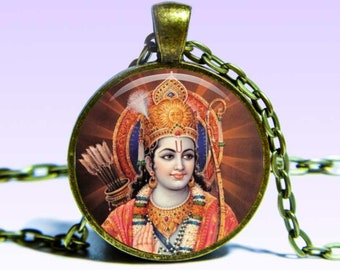Lord Rama Amulet Pendant Ram NECKLACE Yoga Jewelery Amulet Charm Pendant for Him or Her