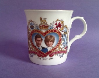 Princess Diana tribute mug Royal Family Queen Wales free gift box