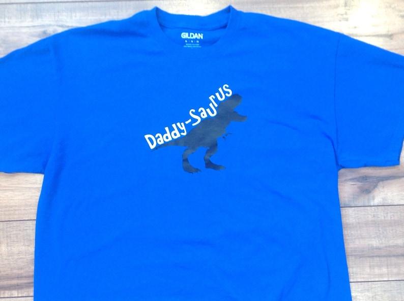 11645a88e97f6 Daddy saurus t-shirt royal blue short sleeve dinosaur shirt | Etsy