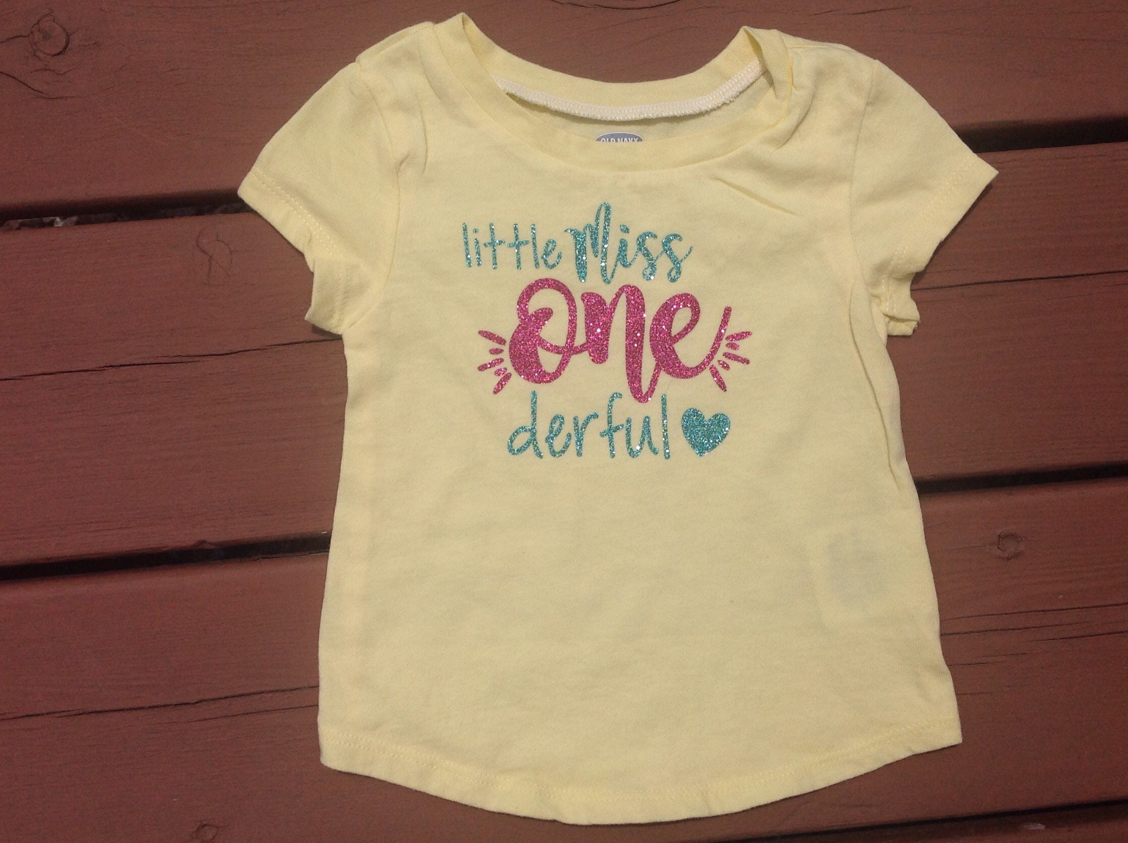 Little Miss Onederful Birthday Shirt One Derful