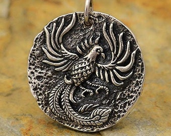 Yao0dianxku Phoenix Necklace,Phoenix Pendant,Pheonix Jewelry,Phoenix Charm,Men/'s Necklace,Fire Phoenix Necklace,Fire Phoenix Pendant.Y172