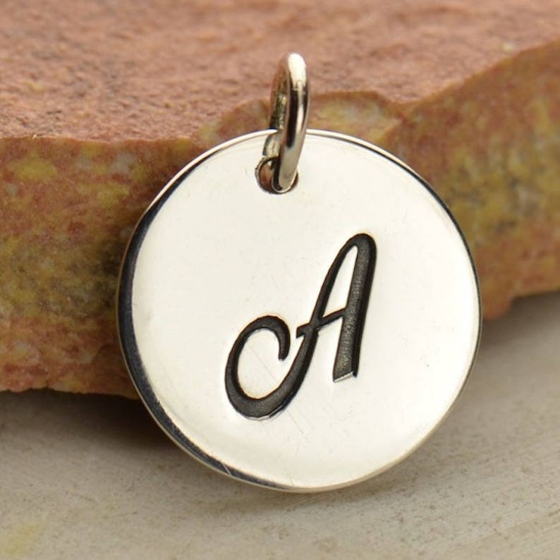 Bee Honeybee Bumblebee Sterling Silver Necklace  Personalized Monogram Charm  Initial pendant  Spring Jewelry  Flying Insect 699