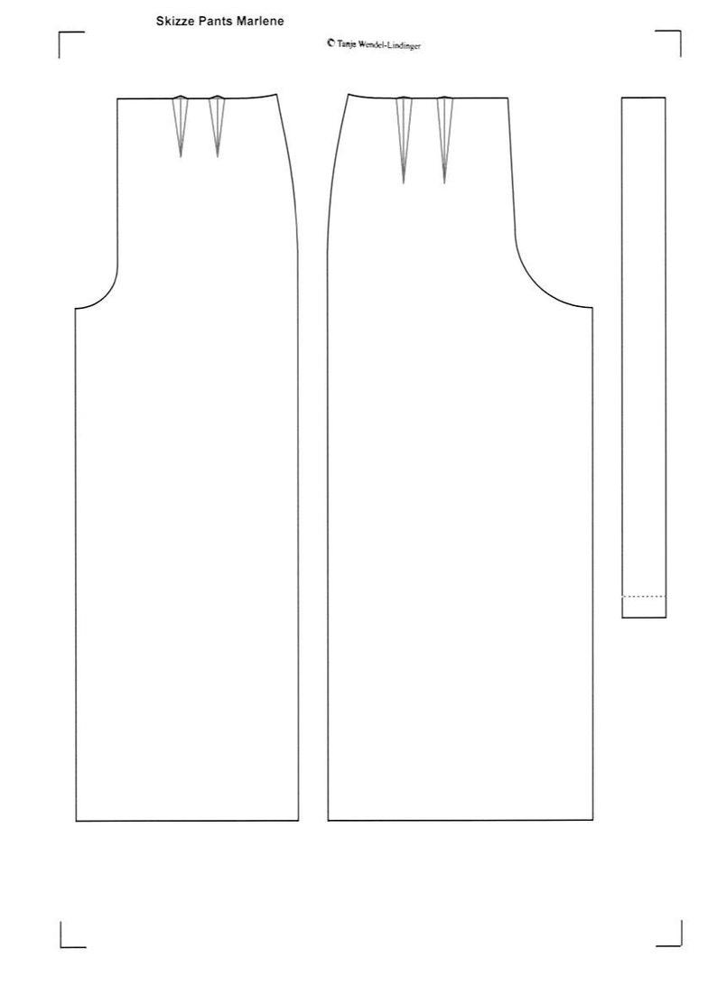PDF Pattern Size US6UK10DE36 and US8UK12DE38 1940s Pants Marlene